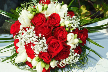 Bouquet di rose sosse