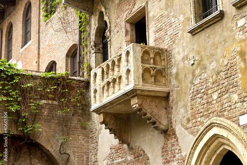 Leinwanddruck Bild Balkon von Romeo und Julia