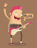 Punk rock guitar player