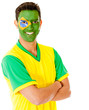 Man with Brazil flag