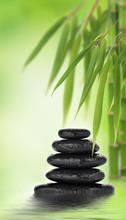 Massage aux pierres empilées et design en bambou