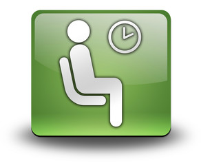 """Green 3D Effect Icon """"Waiting Room"""""""