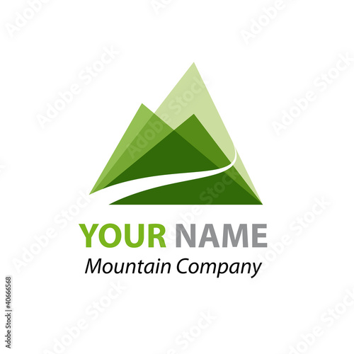 Abstract Logo Green Mountain # Vector