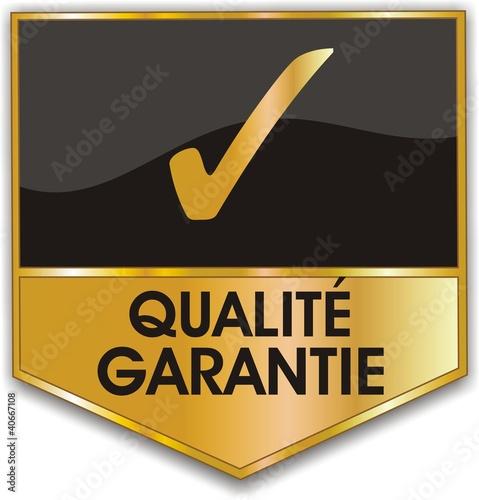bouton qualité garantie