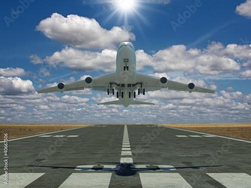 Samolot startuje
