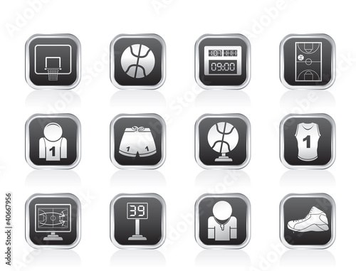 Basketball and sport icons - vector Icon Set