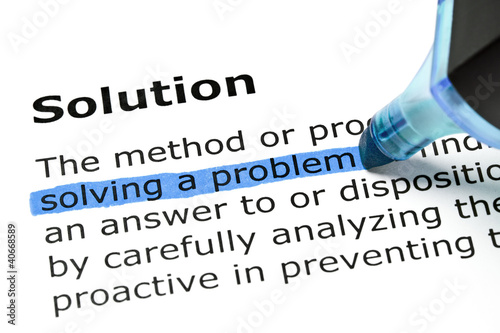 Solving a problem highlighted under Solution