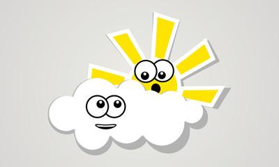 Fun clouds and sun.