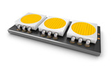 Led light lamp chips over white
