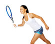 active tennis woman