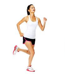 Healthy woman jogging
