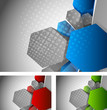 Background with 3d hexagon