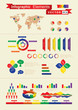 Retro infographic elements for web and print usage