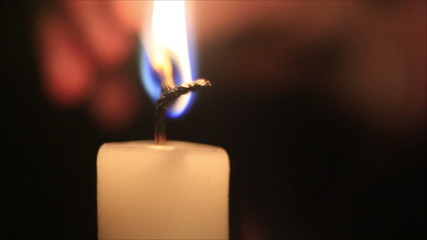 candle is lit matchstick 1