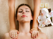 Spa Massage. Beauty Woman Getting Massage