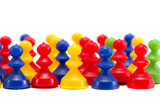 isolated colorful indoor games toys poster