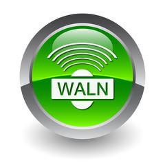 Wi-fi waln green button