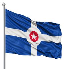 Waving Flag of USA city, Indianapolis