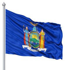 Waving Flag of USA state Michigan