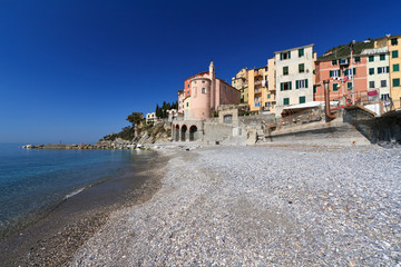 Liguria - Sori from the beach, Italy