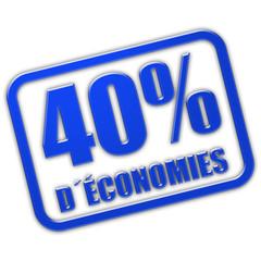 Stempel blau glas 40% D´ÉCONOMIES
