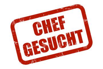 Grunge Stempel rot CHEF GESUCHT