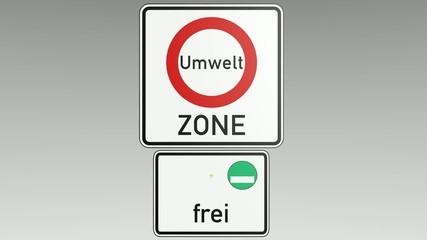 Verkehrszeichen Umweltzone, animiert