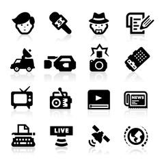 Reporter icons set – Elegant series