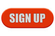 Button orange Seiten rund SIGN UP