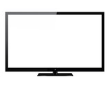 Black LED or LCD TV