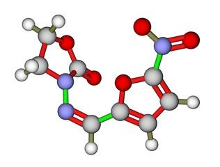 Antibacterial furazolidone molecular structure