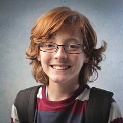 Smiling schoolchild