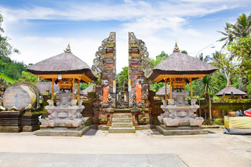 Gate of Gunung Kawi Temple in Bali, Indonesia