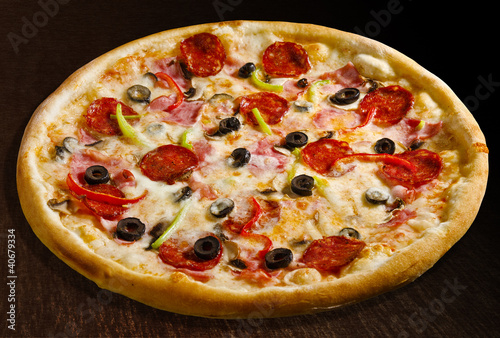 Pizza quattro stagioni - isolated