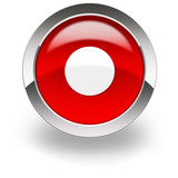 red icon with record symbol