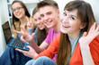 Leinwandbild Motiv teens - friends