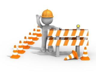 Zone de chantier, construction