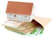 concept coût immobilier, maison et argent