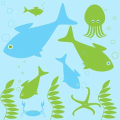 Sea inhabitants life