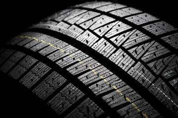 Brand new modern winter car tire.