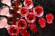 Red drinks pattern