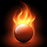 Abstract background with vector flames