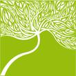 abstrakter grüner baum