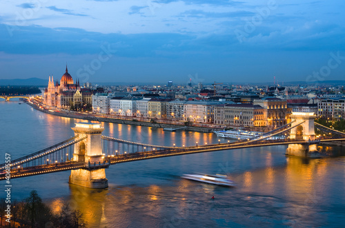 Budapest, Cityscape By Night
