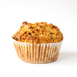 Gluten free muffin with nuts isolated