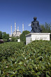Selimiye Mosque and statue of Mimar Sinan