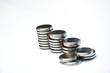 Leinwanddruck Bild - coin battery