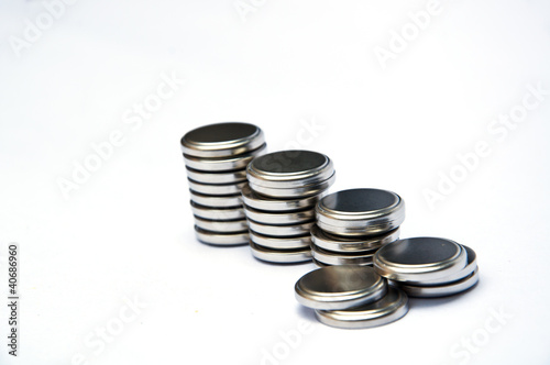 Leinwanddruck Bild coin battery