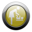"Yellow Metallic Orb Button ""Baby Change"""