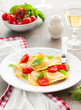 Ravioli with tomatoes and basil